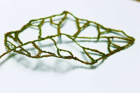 leaf machine emboidered by Birgit Moffatt