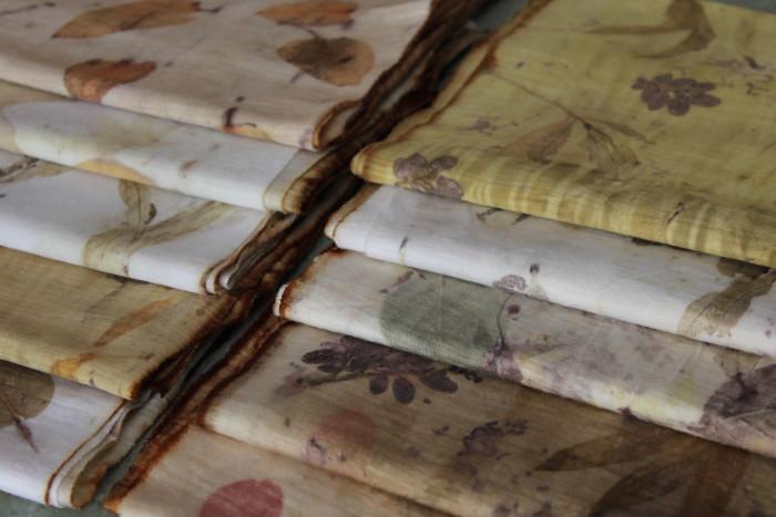 eco print on merino fabric by Birgit Moffatt