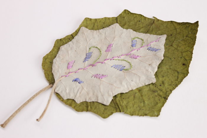 leaf stitch project with Birgit Moffatt