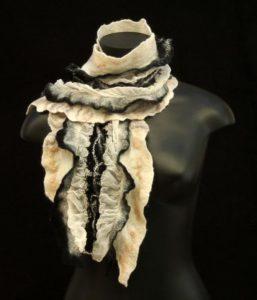 nuno felt scarf by Birgit Moffatt