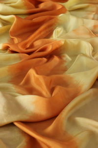 osage orange on silk by Birgit Moffatt
