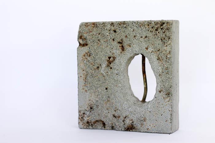 Concrete, metal by Birgit Moffatt