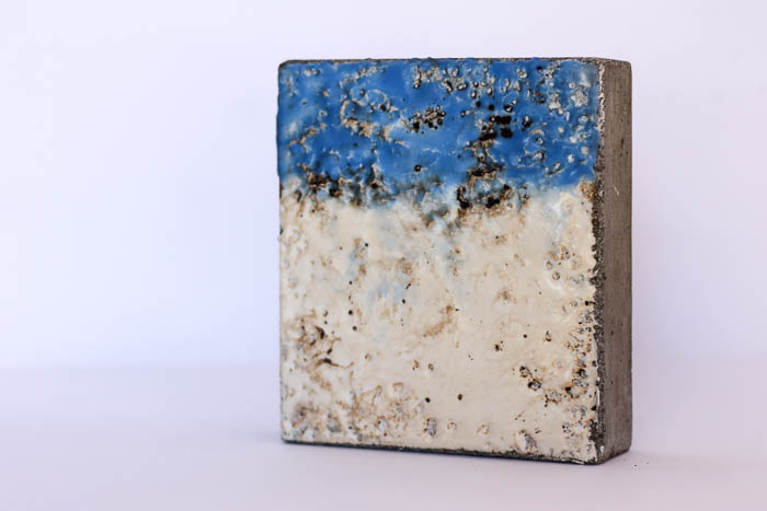 concrete, tar, wax by Birgit Moffatt
