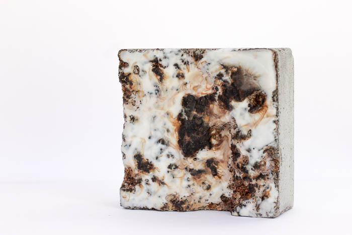 concrete, tar, shellac, wax by Birgit Moffatt