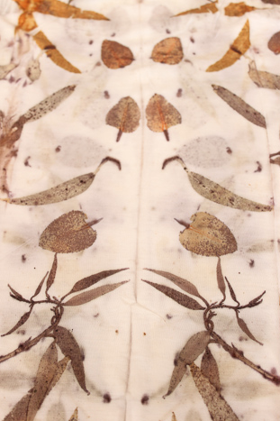 eco print detail by Birgit Moffatt