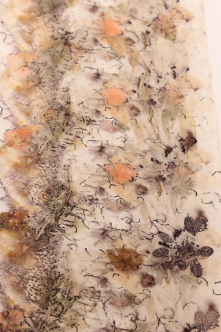 eco print on silk by Birgit Moffatt