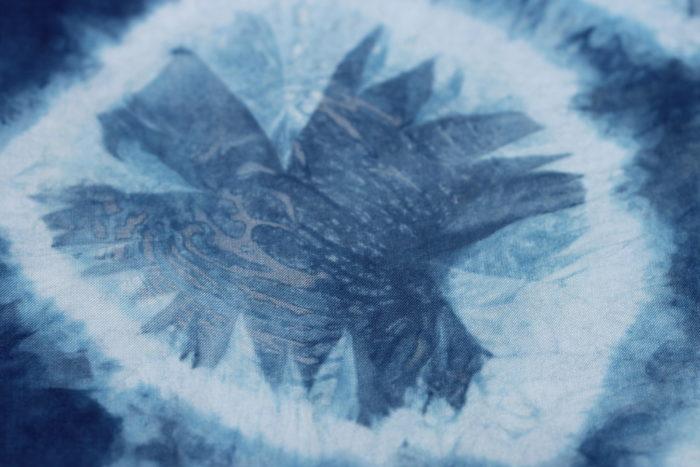 indigo shibori by Birgit Moffatt