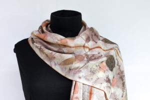 silk merino scarf by Birgit Moffatt
