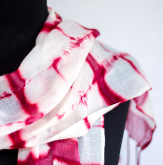 natural dyed scarf by Birgit Moffatt