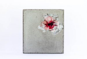 Stille - concrete, paper, ink by Birgit Moffatt