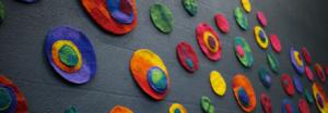 felt installation by Birgit Moffatt