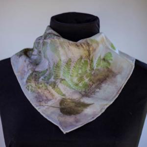 eco dyed neckscarf by Birgit Moffatt