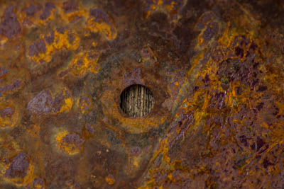 rusted sewing blade