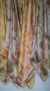eco dyed neck scarves by Birgit Moffatt