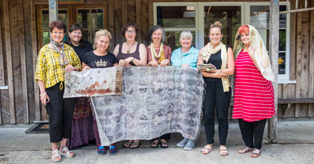 eco dye retreat with Birgit Moffatt